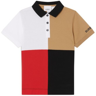 Burberry Kids Colour-Block Polo Shirt (3-12 Years)