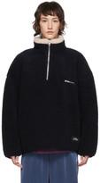 Rassvet Navy Wool Fleece Sweater