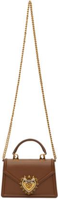 Dolce & Gabbana Brown Small Devotion Bag