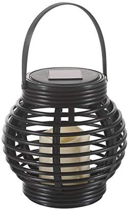 Camilla And Marc Flower Power 4678 Solar Lantern, Plastic, brown, 16 x 16 x 16 cm