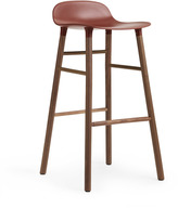 Normann Copenhagen Form Barstool H75cm Red/Walnut