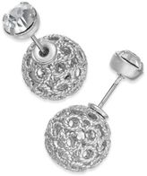 INC International Concepts Filigree Spheres and Crystal Stud Reversible Earrings, Only at Macy's