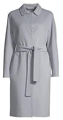 Max Mara Women's Doraci Virgin Wool Tie-Waist Trench Coat
