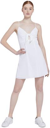 Alice + Olivia Roe Front Tie Mini Dress