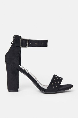 Coast Diamante Strap Block Heel Sandal