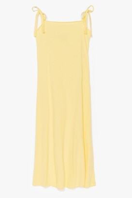 Nasty Gal Womens All Tie Need Relaxed Midi Dress - Lemon
