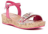 Mia Floral Low Wedge Sandal (Little Kid & Big Kid)