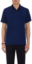 Barneys New York Men's Mélange French Terry Polo Shirt