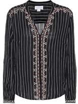 Velvet Remi embellished striped shirt