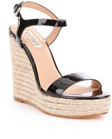 Badgley Mischka Bermuda Metallic Patent Espadrille Wedges