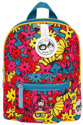 "Babymel Zip & Zoe Mini 10"" Kid' Backpack & afety Harne - Floral Bright"