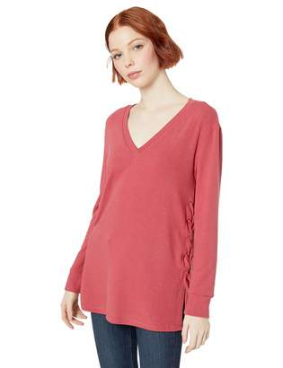 BB Dakota Womens Laced up for What Hacci Tunic with lace-up Sides