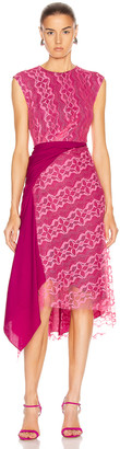 Sies Marjan Anita Lace Asymmetrical Dress in Fluo Pink   FWRD