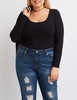 Charlotte Russe Plus Size Scoop Neck Bodysuit