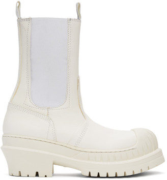 Acne Studios White Leather Chelsea Boots