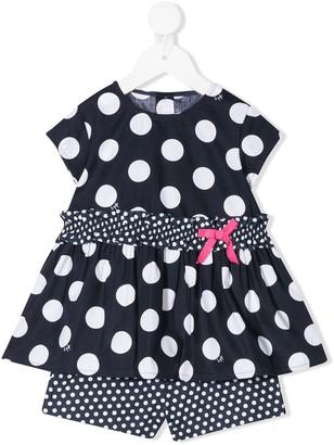 Il Gufo Polka-Dot Dress And Shorts Set