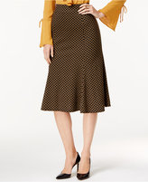 NY Collection Patterned Ponte A-Line Skirt