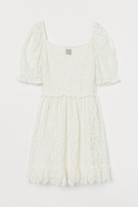 H&M Short Lace Dress - White