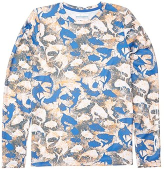 Columbia Kids Super Terminal Tackletm Long Sleeve (Little Kids/Big Kids) (Vivid Blue Inside Out Camo) Kid's Clothing