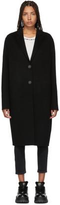 Acne Studios Black Avalon Double Trench Coat