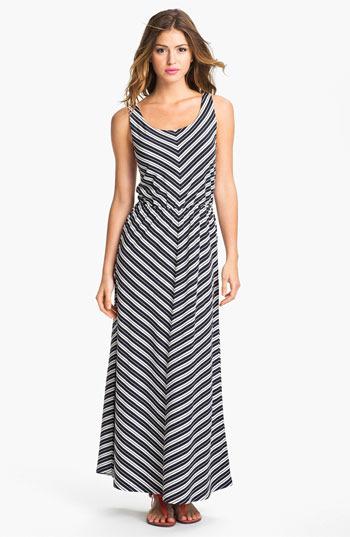 Olive & Oak Chevron Stripe Maxi Dress