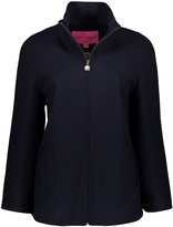 Betsey Johnson Navy Oval Pocket Wool-Blend Coat