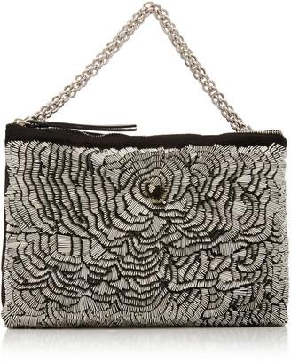 Jimmy Choo Callie Embellished Satin Top Handle Bag