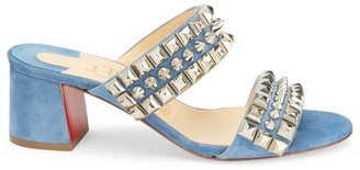 Christian Louboutin Tina Goes Mad Studded Suede Mules