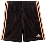 adidas Black & Sun Glow Triple Up Shorts - Tween
