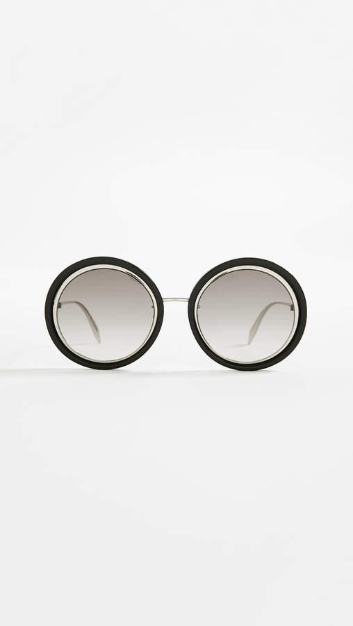 Alexander McQueen Sculpted Round Sunglasses