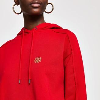 River Island Womens Red RI long sleeve hoodie