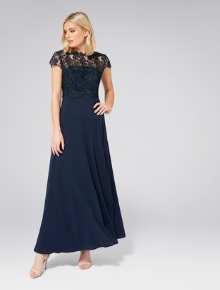 Forever New Shanae Lace Top Maxi Dress - Navy - 4