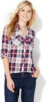New York & Co. Soho Soft Shirt - Hi-Lo - Plaid