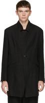 Isabel Benenato Black Linen Coat