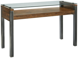 Progressive Furniture Midtown Glass Sofa/Console Table