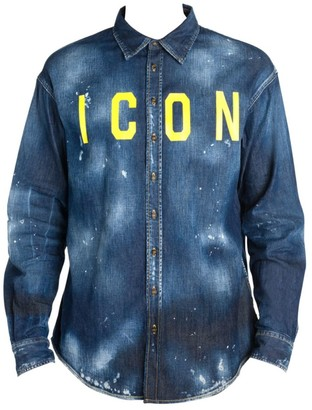 DSQUARED2 Icon Splatter Denim Shirt