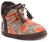 Muk Luks Women's Pennley Aztec Print Bootie Slippers