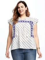 Old Navy Plus-Size Embroidered Swing Top