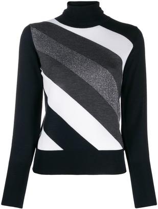 Lorena Antoniazzi Diagonal Striped Jumper