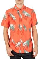 Volcom Men's Maui Palm Cotton Blend Woven Shirt