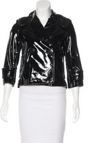Robert Rodriguez Patent Leather Cropped Jacket