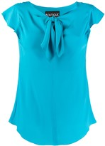 Moschino knot-detail short-sleeve top
