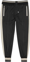 Dolce & Gabbana Two-tone Cotton Twill Jogging Trousers