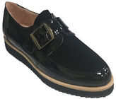 Patricia Green Moc Strap Patent Leather and Suede Oxfords