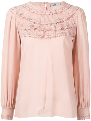Etro Ruffle-Trim Silk Blouse