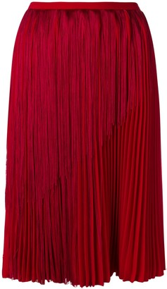 Marco De Vincenzo Fringed Pleated Skirt