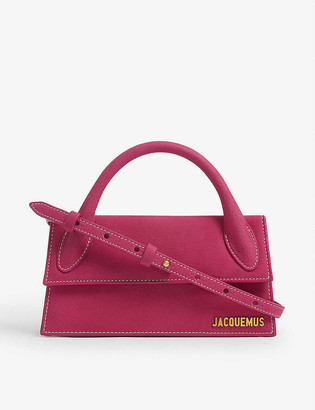 Jacquemus Le Chiquito Long suede top handle bag