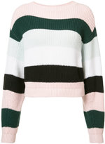 ADAM by Adam Lippes striped cropped jumper - women - Cotton - S