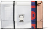 Proenza Schouler The Lunch Bag Small Paneled Mirrored Leather Clutch - Silver