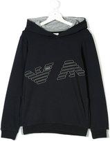 Armani Junior Teen logo hoodie